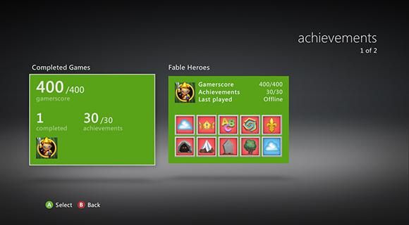 Достижения в играх на xbox 360